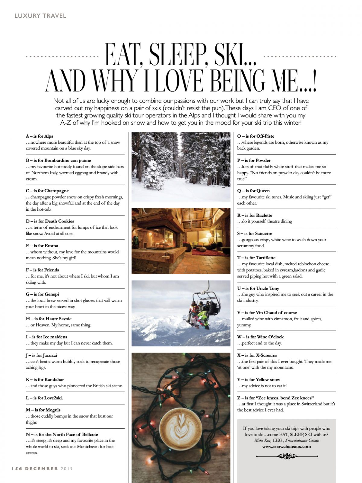 Eat Sleep Ski A to Z of Mike Key's Guide to Snow