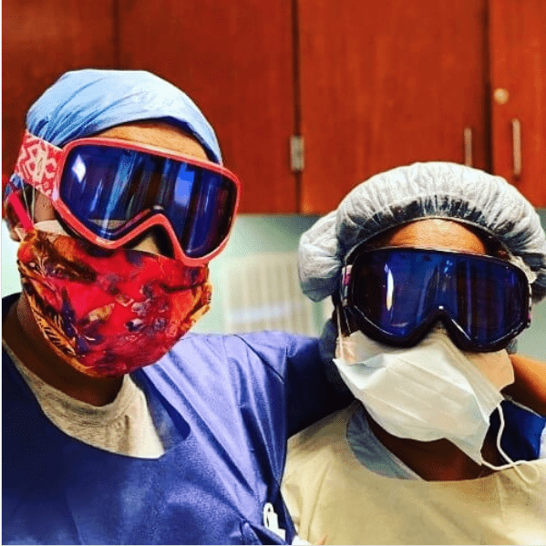doctor-and-nurse-wearing-donated-ski-goggles